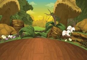 ilustração de fundo de bela paisagem vetor