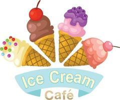 ilustração de casquinha de sorvete isolada vetor