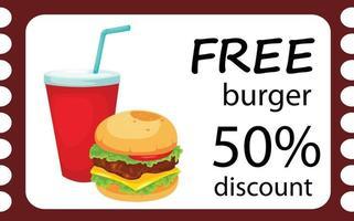 ilustração de conjunto de hambúrguer isolado vetor