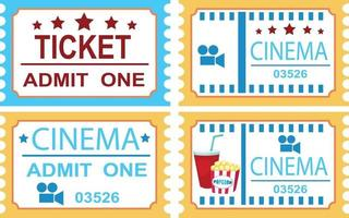 ilustração de bilhete de cinema isolado vetor