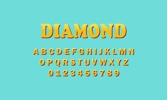 alfabeto fonte de diamante vetor