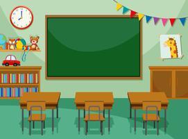 Interior da sala de aula vetor