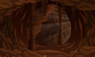 Uma paisagem de caverna escura vetor