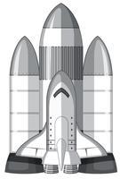 Um grande foguete de transporte vetor