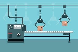 linha de produção industrial automatizada vetor