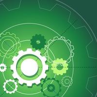 Projeto de plano de fundo com engrenagens em verde