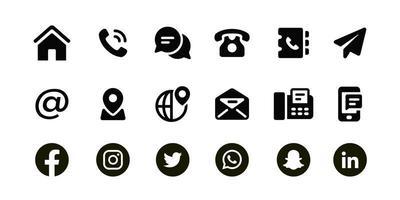 conjunto de ícones de contato pessoal vetor