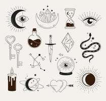 objetos esotéricos e símbolos vetor