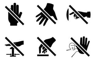 por favor não toque no ícone de sinal vetor