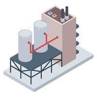indústria de refinaria de petróleo vetor