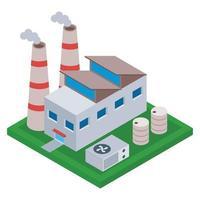conceitos de construção de fábrica vetor