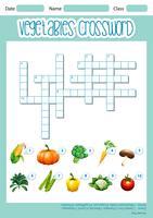 Um, vegetal, crossord, conceito vetor