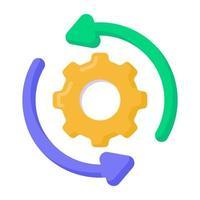 restaurar configurações e manutenção vetor