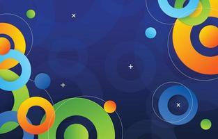 círculo fundo abstrato colorido vetor