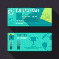 design de material de bilhetes de futebol. ilustração vetorial vetor