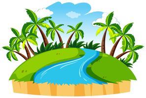 Paisagem de natureza rio isolado vetor