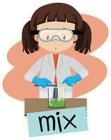 Mulher no laboratório vetor