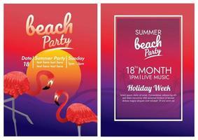 pôster do festival de música para festa na praia tropical vetor