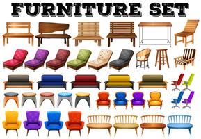 Design diferente de mobiliário moderno vetor