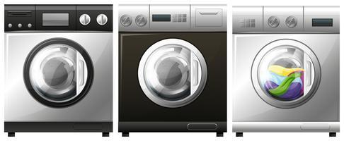 Máquina de lavar roupa com roupa interior vetor