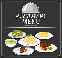 Foon no menu do restaurante vetor