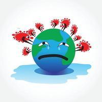 vetor mundial do vírus corona criativo -2019