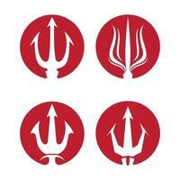 ilustração das imagens do logotipo da trident vetor