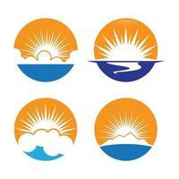 imagens do logotipo do pôr do sol vetor