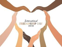 dia da amizade internacional vetor