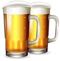 Um conjunto de caneca de cerveja vetor