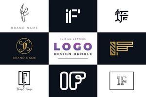 conjunto de letras iniciais da coleção, se design de logotipo. vetor