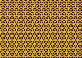 Vetor de imagem de fundo sem costura padrão islâmico dourado