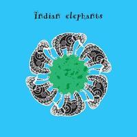 arte do elefante indiano vetor