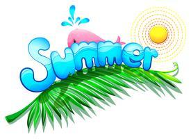 Um modelo de verão vetor