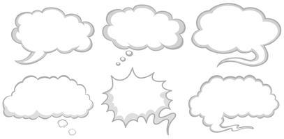 Design diferente de bolhas do discurso vetor
