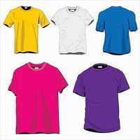 vetor de maquete de camiseta colorida