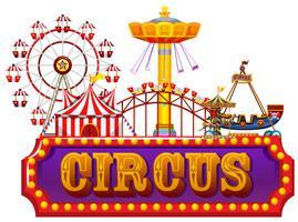 Um banner de circo de diversão