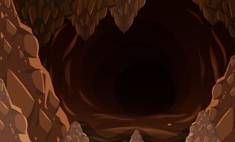 Uma caverna de pedra escura vetor
