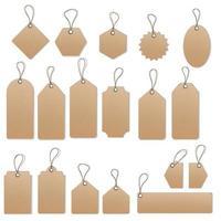 conjunto de modelos de vetores de etiquetas e tags de venda
