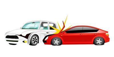 ilustração vetorial de desenho animado acidente de carro vetor