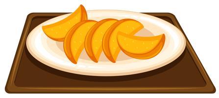 Fruta no prato vetor