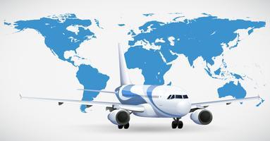 Avião e atlas azul vetor
