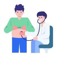 exame de estômago e barriga vetor