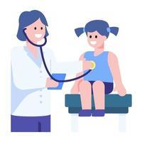 exame de peito infantil vetor