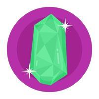 esmeralda e pedra preciosa vetor