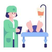 paciente iv gotejamento vetor