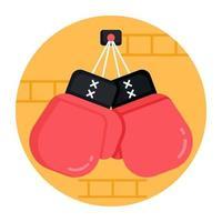luvas de boxe esportivo vetor