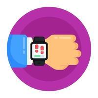 relógio de saúde e fitness vetor