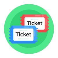 cupons e ingressos para jogos vetor