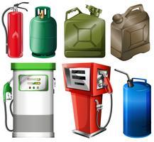 Recipientes de combustível diferentes vetor